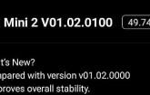 firmware'e tekrar güncelleme geldi